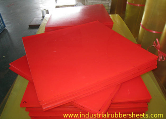 Bendable Virgin Polyurethane Plastic Sheets For Paper Making , Red PU Sheets