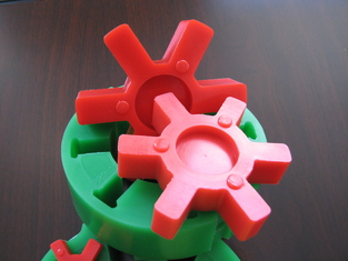 L Type Red Polyurethane / PU Coupling Taper Bore Universal Series