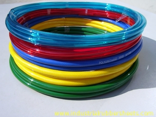 Red / Yellow Wear Resistant Silicone Tube Extrusion , Polyurethane Hose