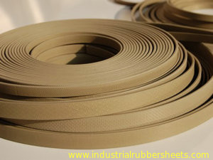 Brown PTFE Packing Guide Stripe Tape (GST) , Thickness 0.8mm , 1.0mm , 1.5mm