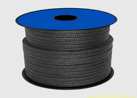 Κίνα Μαύρη τεφλόν συσκευασία PTFE για τη σφράγιση του υλικού/από γραφίτη σχοινιού συσκευασίας αδένων διανομέας